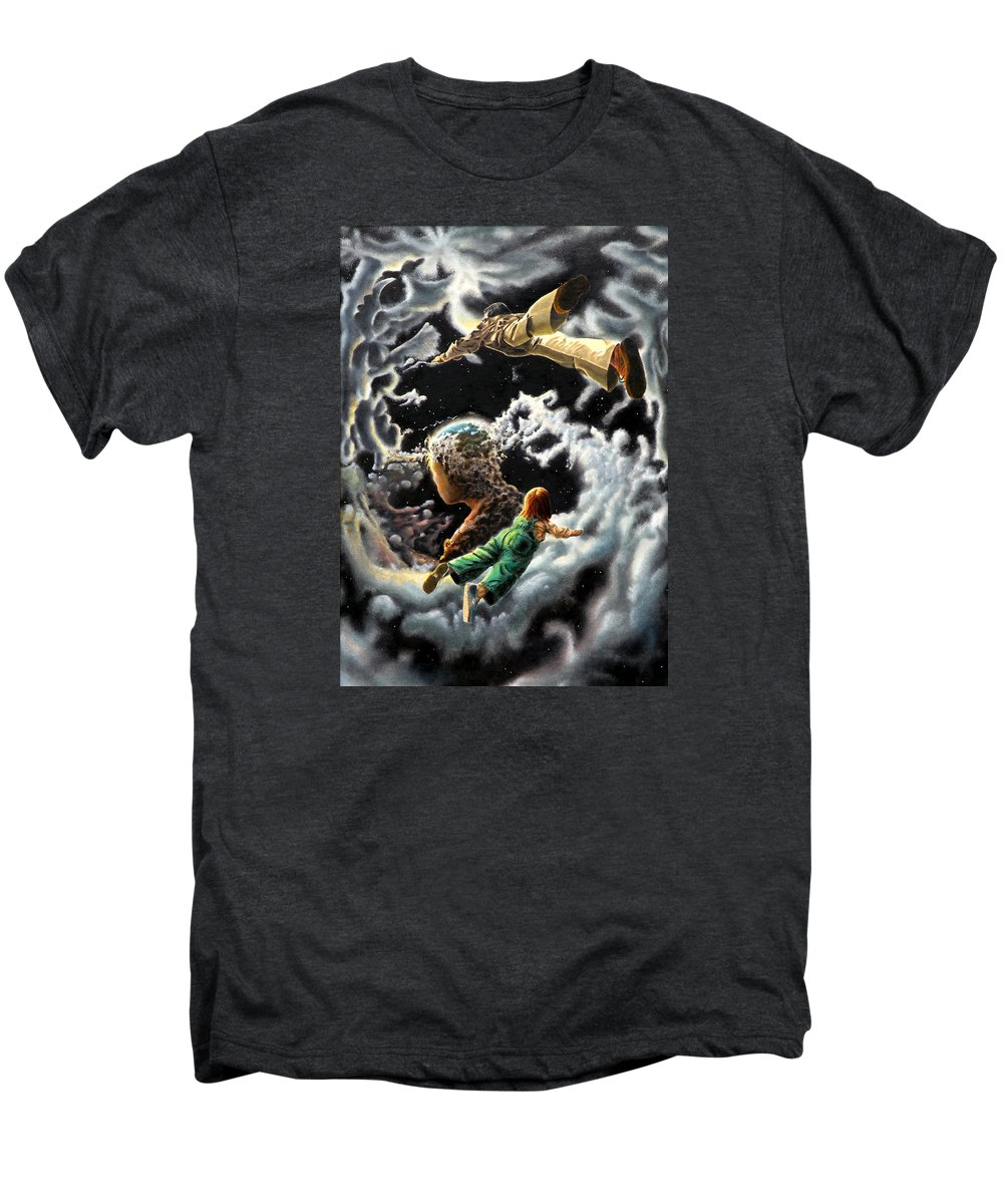 Fantasy Men's Premium T-Shirt featuring the painting Homecoming by Dave Martsolf