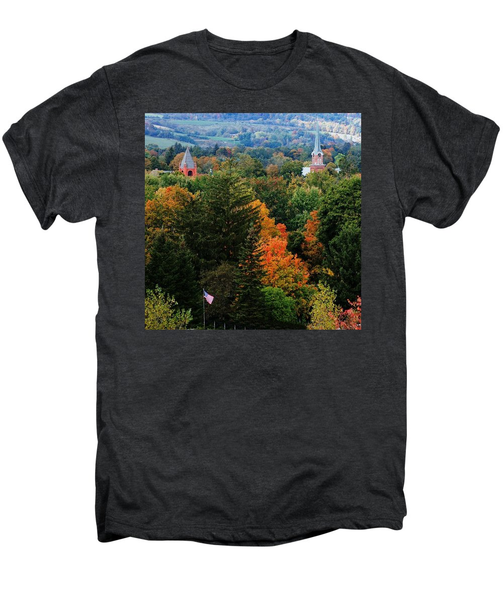 Landscape Men's Premium T-Shirt featuring the photograph Homer Ny by David Lane