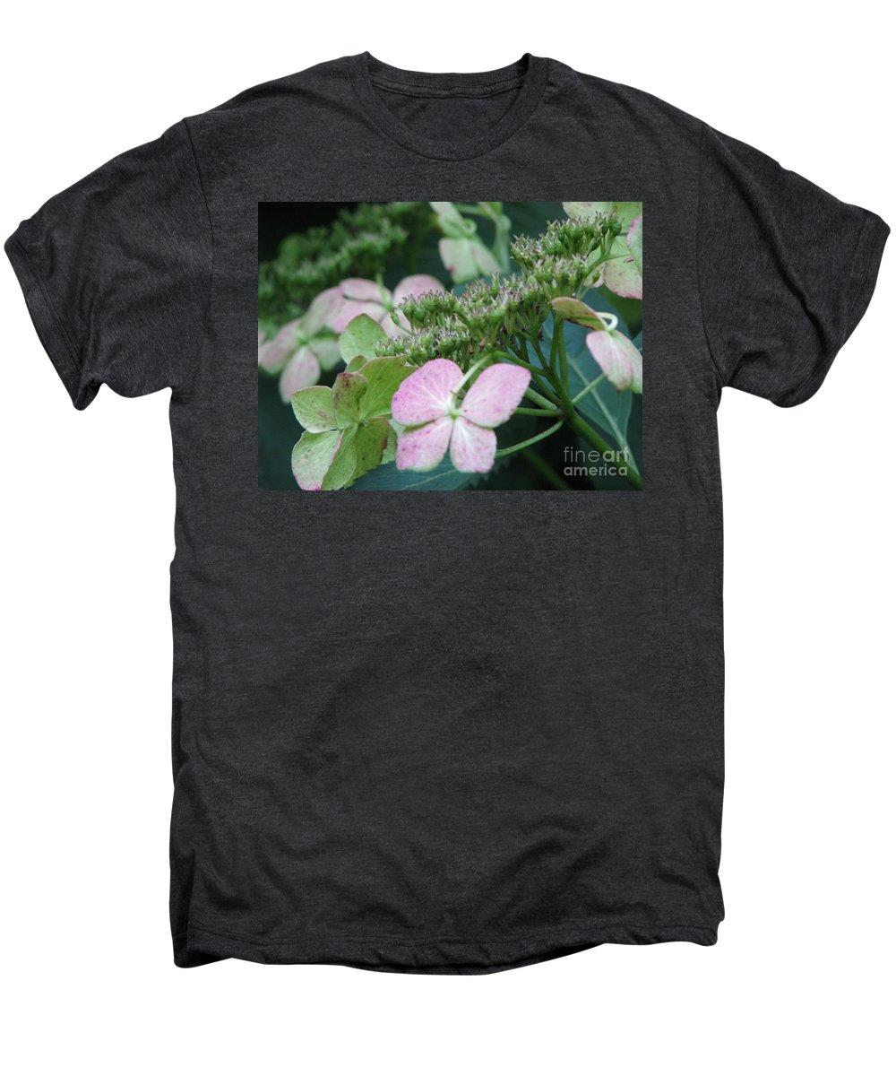 Hydrangea Men's Premium T-Shirt featuring the photograph Hydrangea by Amanda Barcon