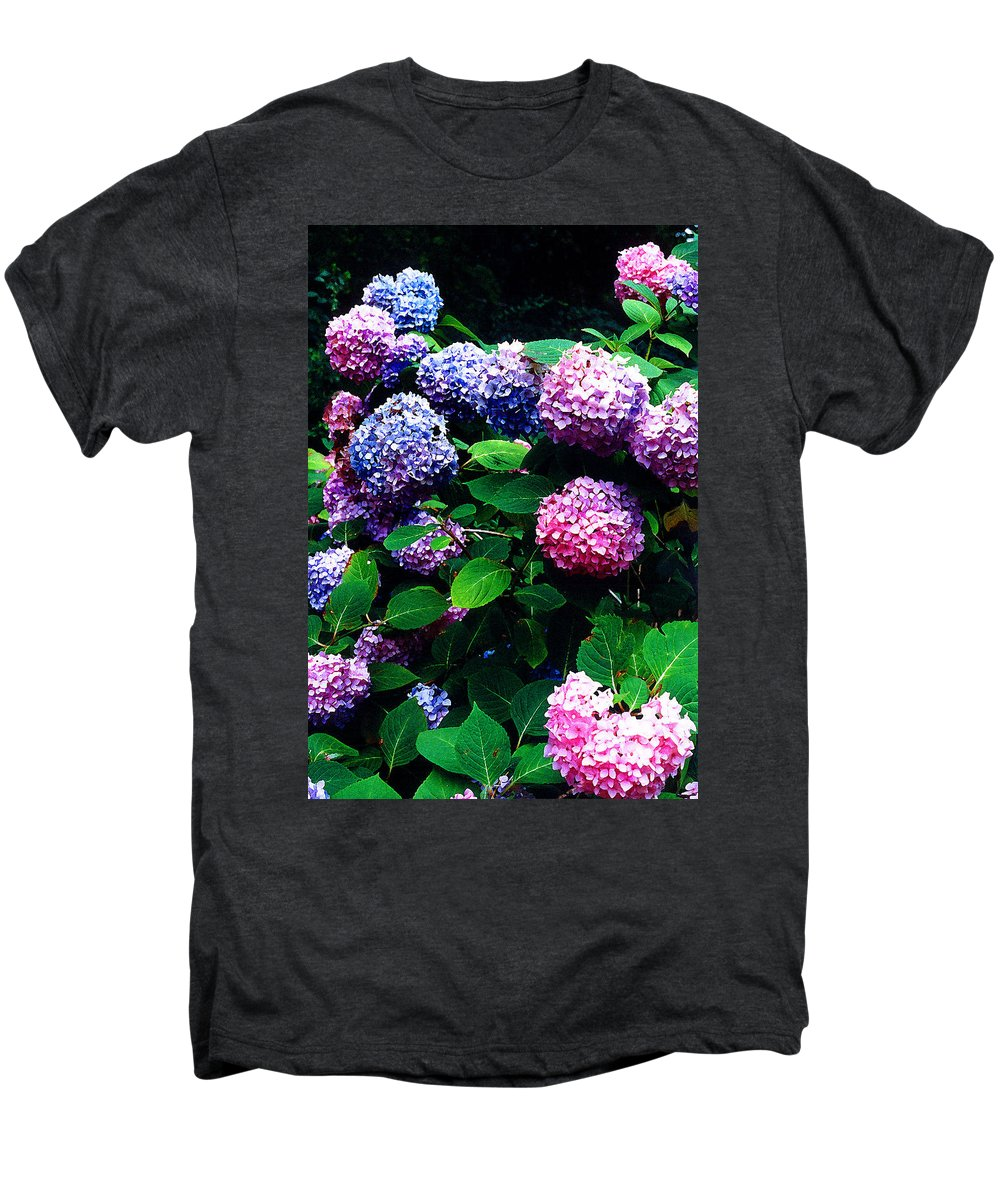 Flowers Men's Premium T-Shirt featuring the photograph Hydrangeas by Nancy Mueller