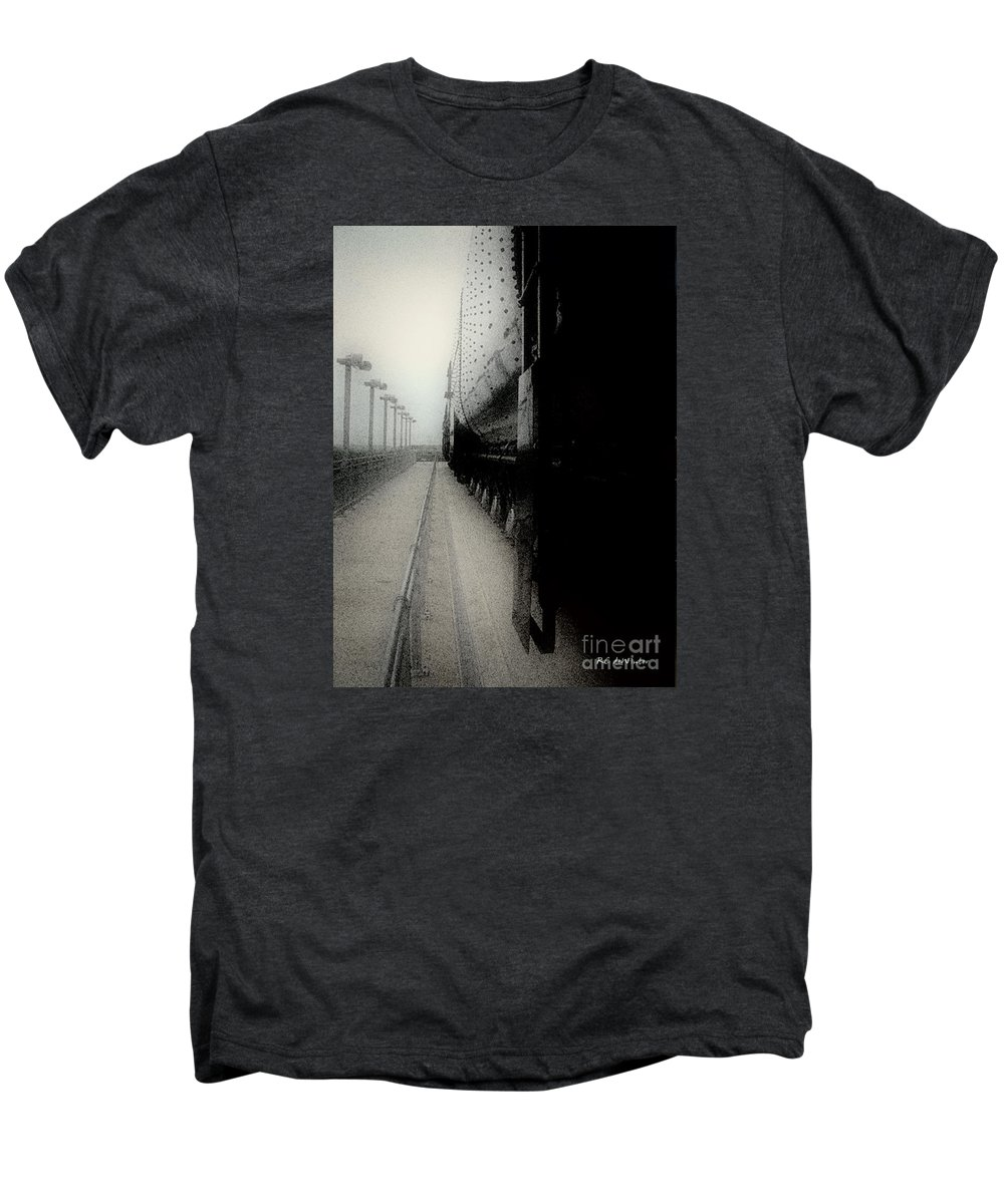 Train Men's Premium T-Shirt featuring the digital art I Hear That Lonesome Whistle Blow by RC deWinter