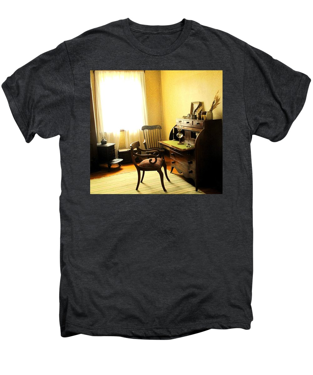 Antique Men's Premium T-Shirt featuring the photograph I Will Be Right Back by Ian MacDonald