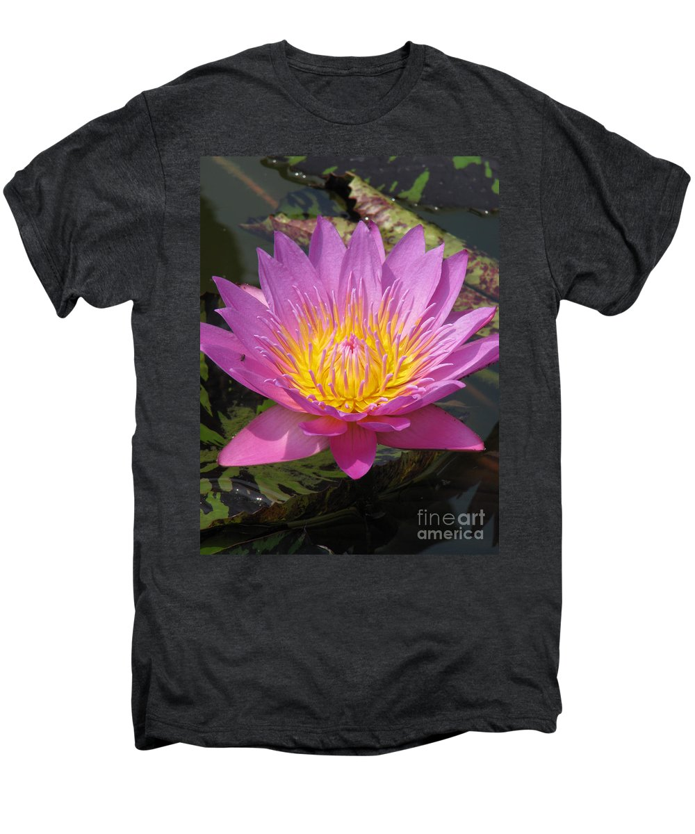 Lotus Men's Premium T-Shirt featuring the photograph In Position by Amanda Barcon
