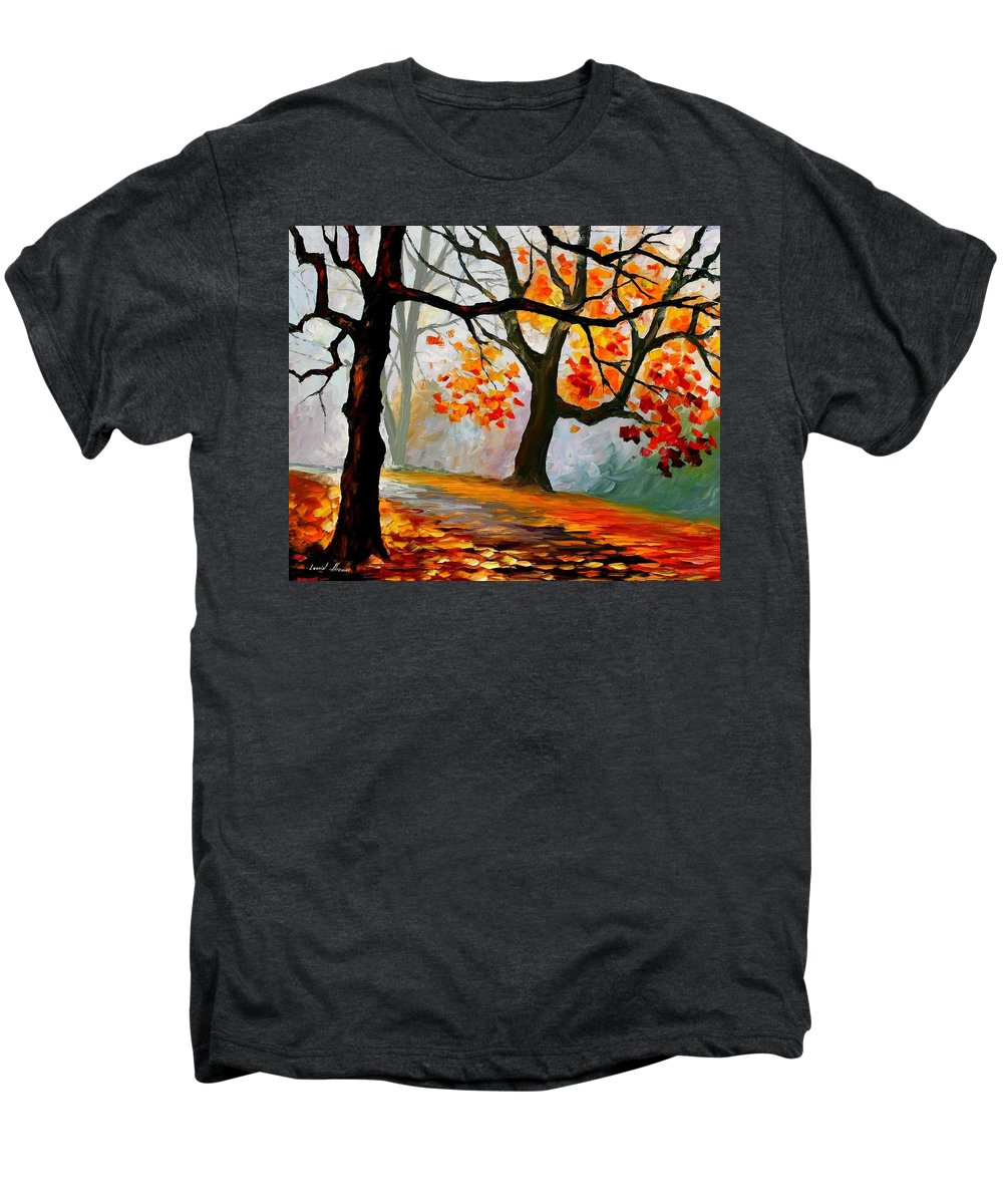 Landscape Men's Premium T-Shirt featuring the painting Interplacement by Leonid Afremov