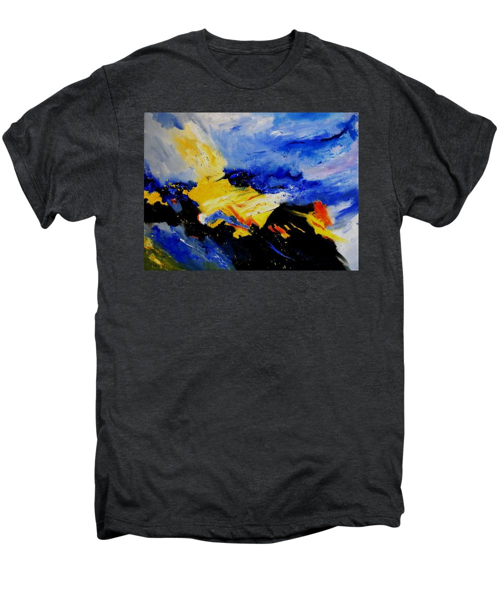 Abstract Men's Premium T-Shirt featuring the painting Interstellar Overdrive 2 by Pol Ledent