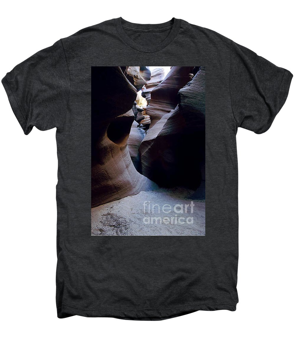 Slot Canyons Men's Premium T-Shirt featuring the photograph Into The Depths by Kathy McClure
