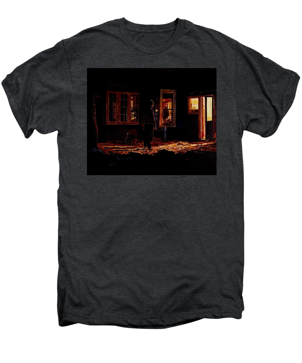 Night Men's Premium T-Shirt featuring the painting Into The Night by Valerie Patterson