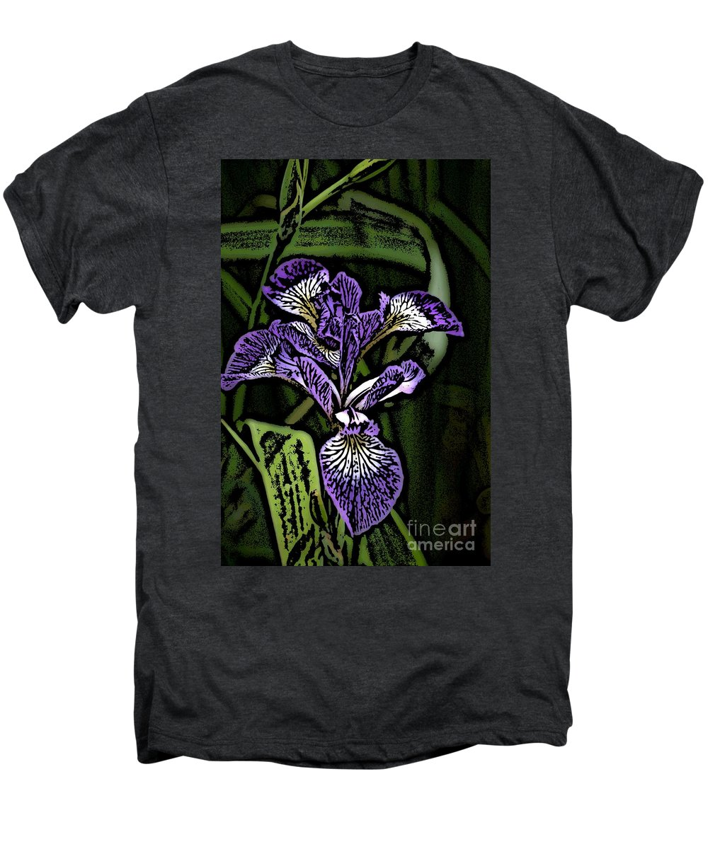 Digital Photograph Men's Premium T-Shirt featuring the photograph Iris by David Lane
