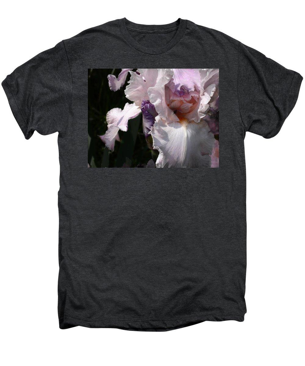 Flower Men's Premium T-Shirt featuring the photograph Iris Lace by Steve Karol