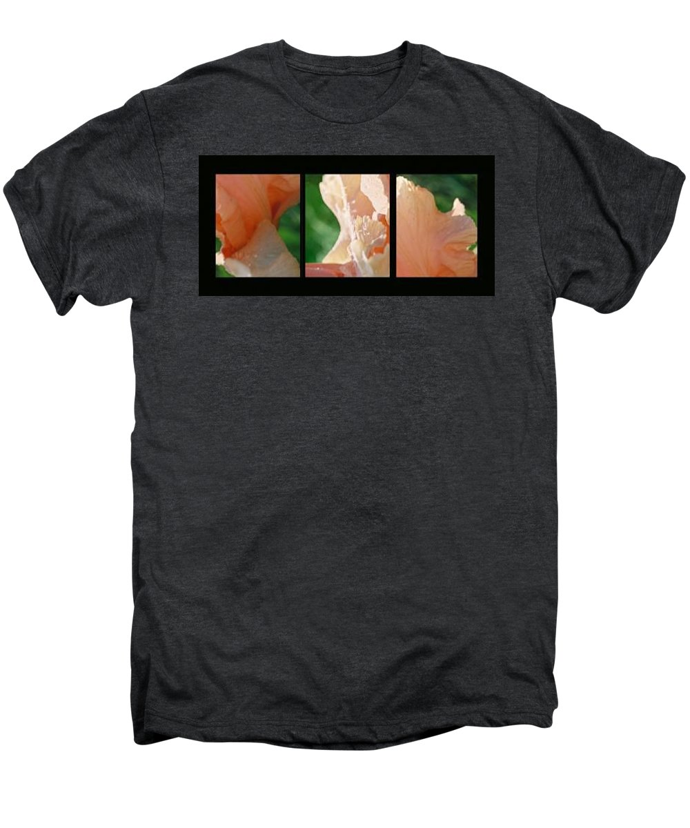 Abstract Men's Premium T-Shirt featuring the photograph Iris by Steve Karol