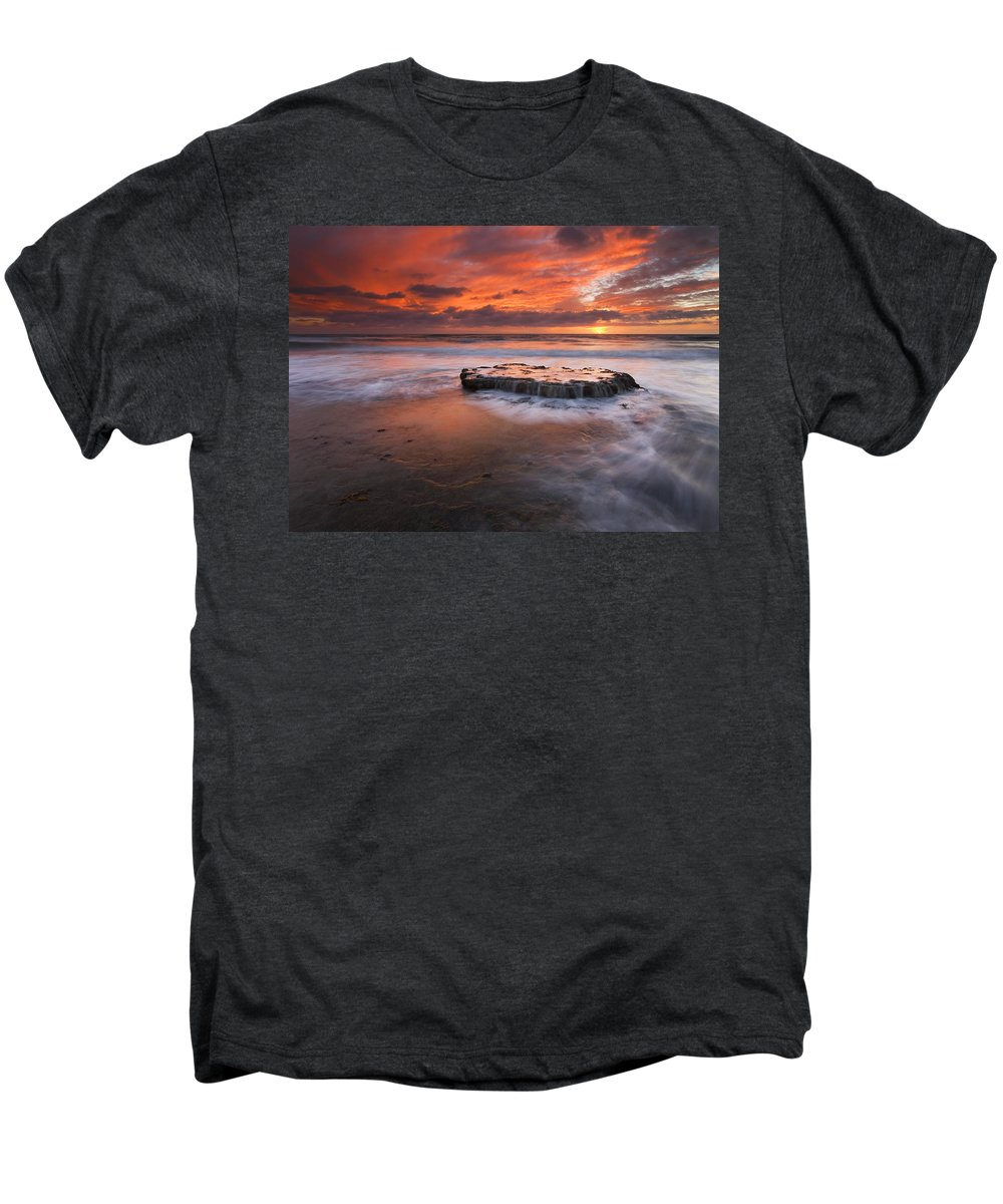 Island Men's Premium T-Shirt featuring the photograph Island In The Storm by Mike Dawson