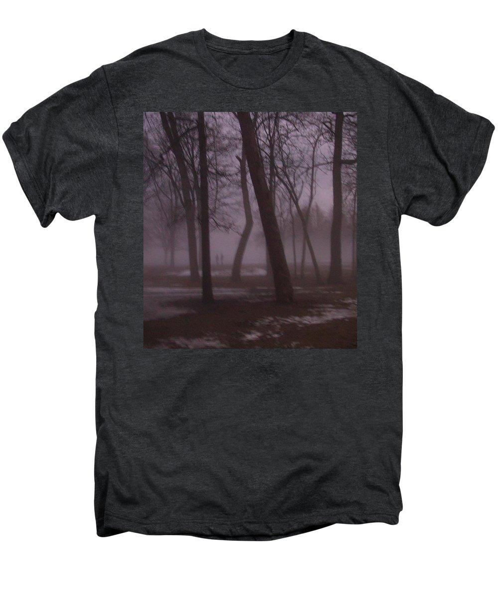 January Men's Premium T-Shirt featuring the photograph January Fog 1 by Anita Burgermeister