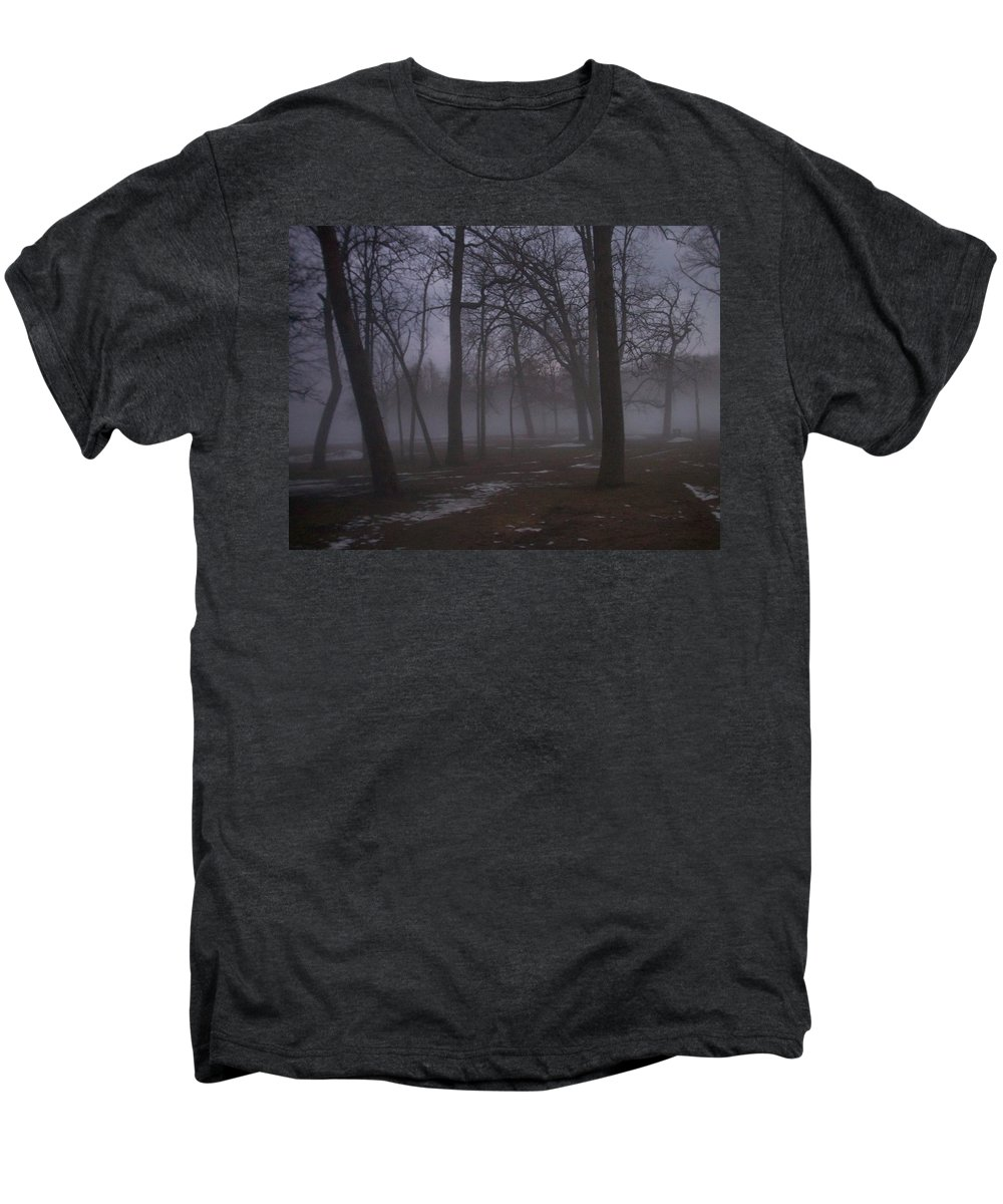 January Men's Premium T-Shirt featuring the photograph January Fog 2 by Anita Burgermeister