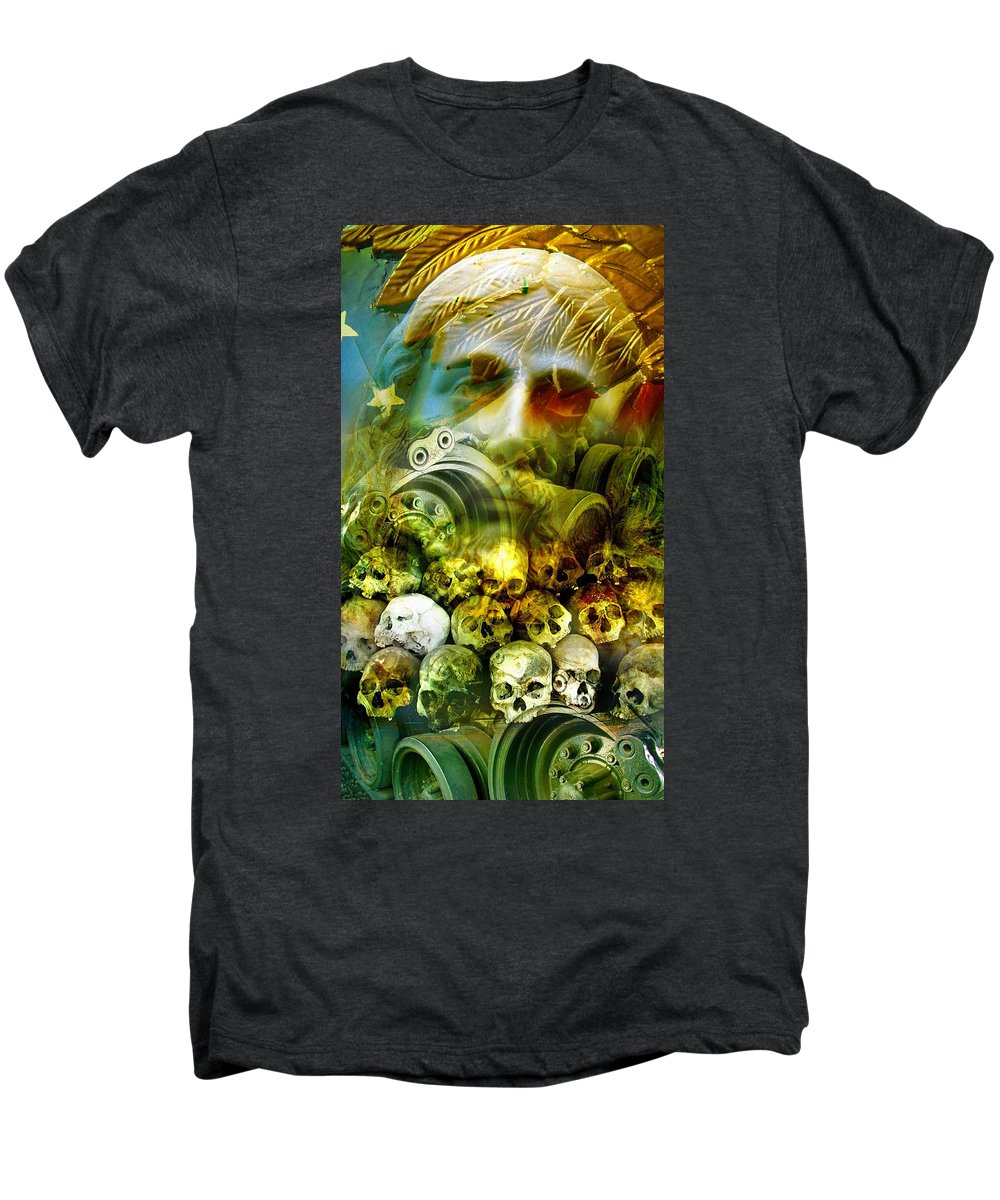 Jesus Men's Premium T-Shirt featuring the photograph Jesus Wept by Skip Hunt
