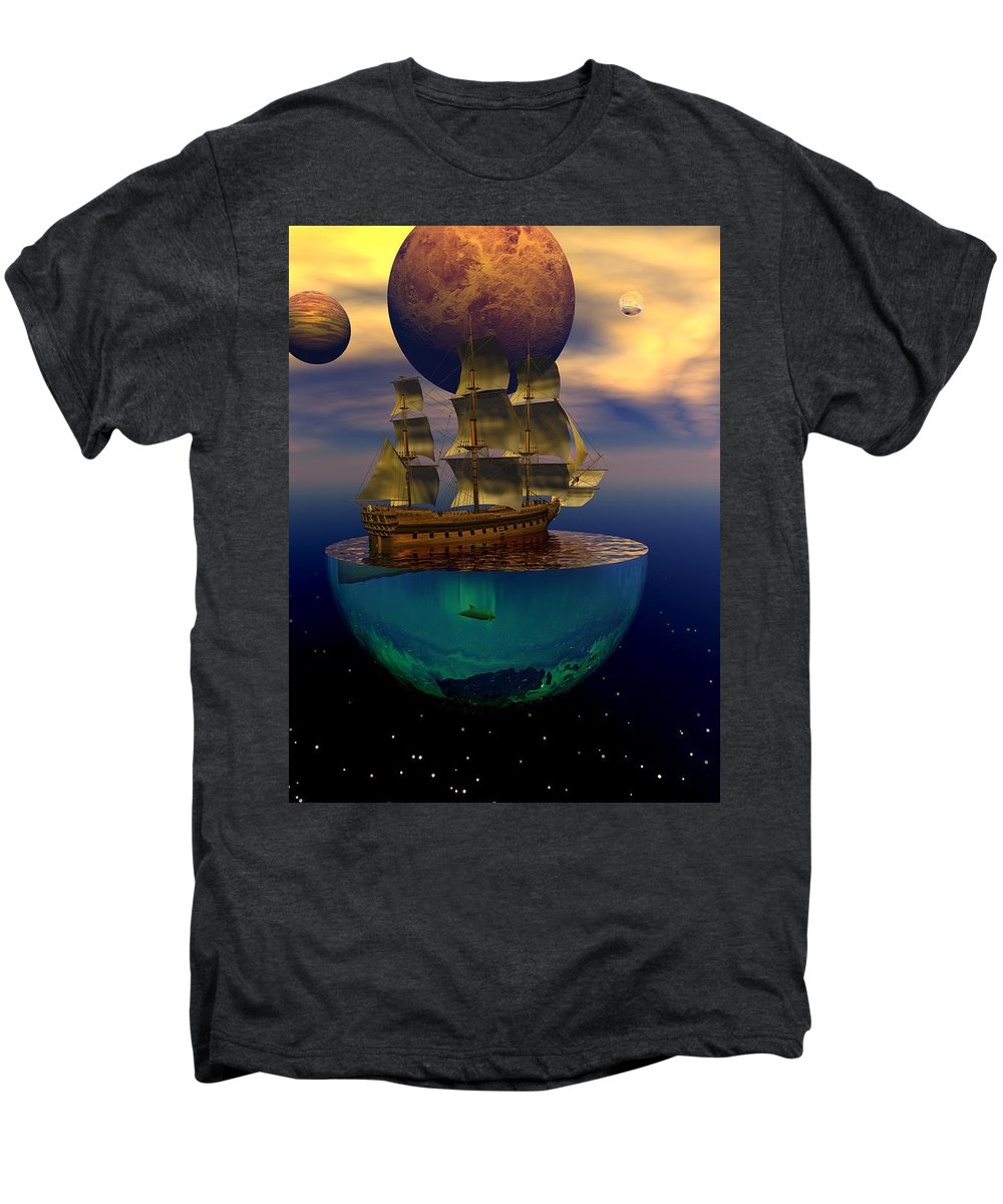 Bryce Men's Premium T-Shirt featuring the digital art Journey Into Imagination by Claude McCoy