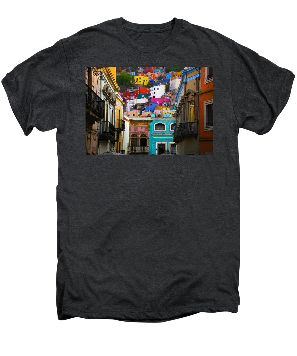 Architecture Men's Premium T-Shirt featuring the photograph Juegos In Guanajuato by Skip Hunt