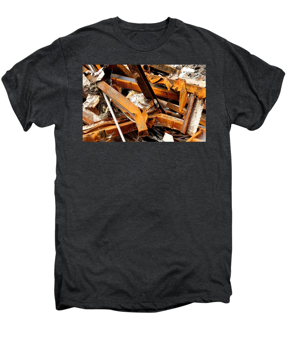 Steel Men's Premium T-Shirt featuring the photograph Jumbled Steel by Jean Macaluso