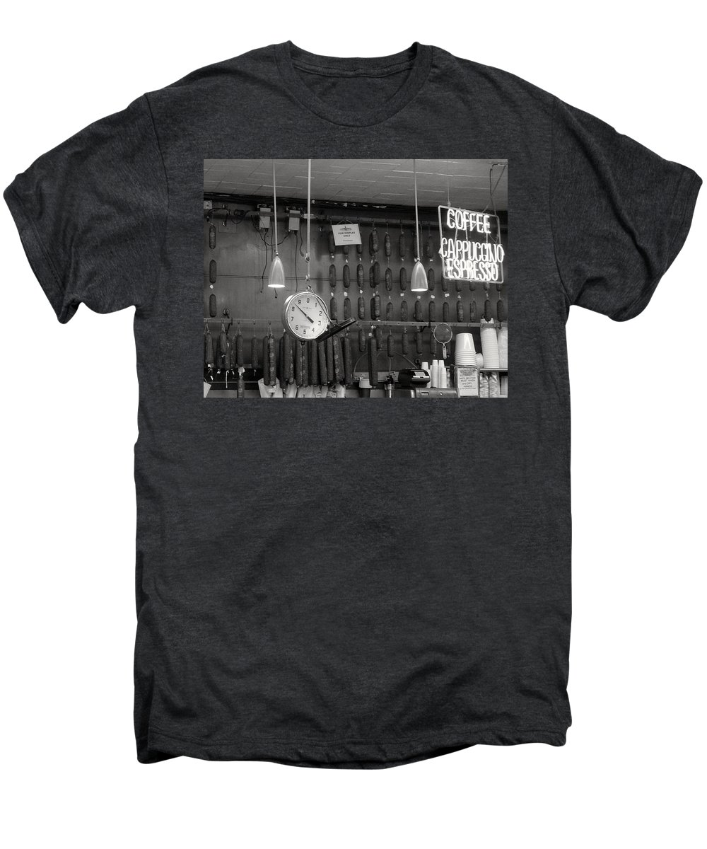 Deli Men's Premium T-Shirt featuring the photograph Katz Deli by Debbi Granruth