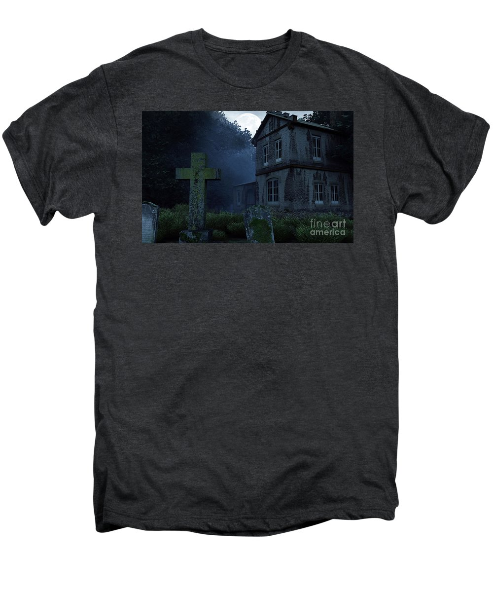 Dark Men's Premium T-Shirt featuring the digital art Keepers Of The Manor by Richard Rizzo