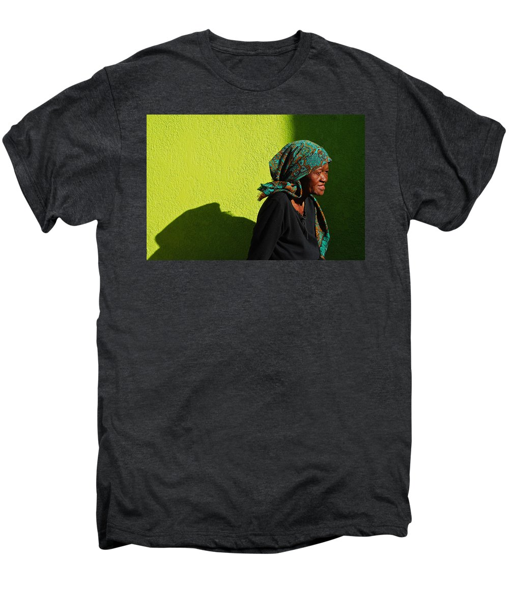 Africa Men's Premium T-Shirt featuring the photograph Lady In Green by Skip Hunt