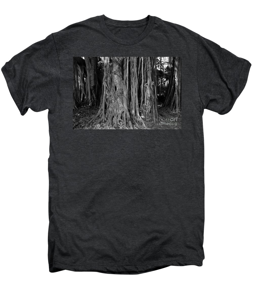 Banyan Trees Men's Premium T-Shirt featuring the photograph Lady In The Banyans by David Lee Thompson