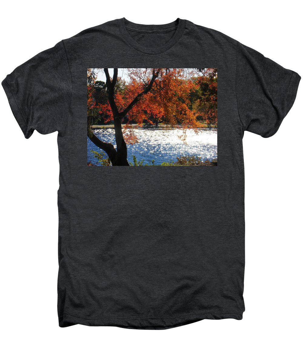 Landscape Men's Premium T-Shirt featuring the photograph Lakewood by Steve Karol