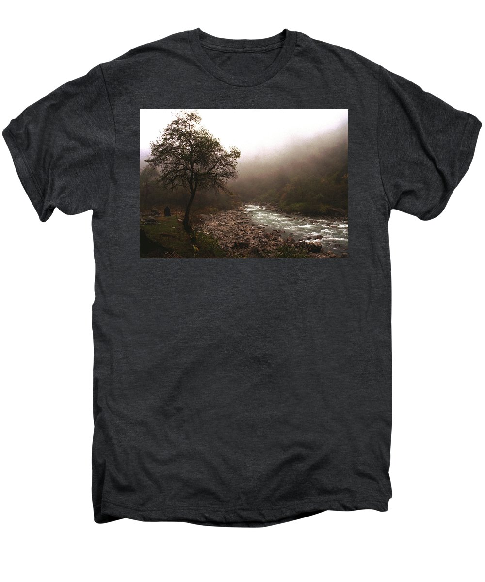 Tree Men's Premium T-Shirt featuring the photograph Langtang Morning by Patrick Klauss