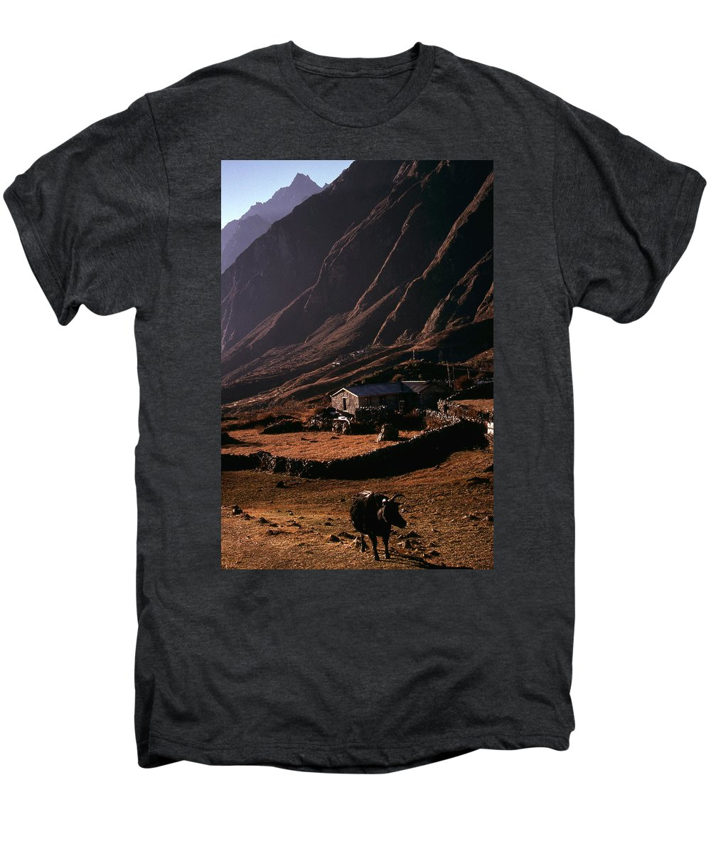 Langtang Men's Premium T-Shirt featuring the photograph Langtang Village by Patrick Klauss