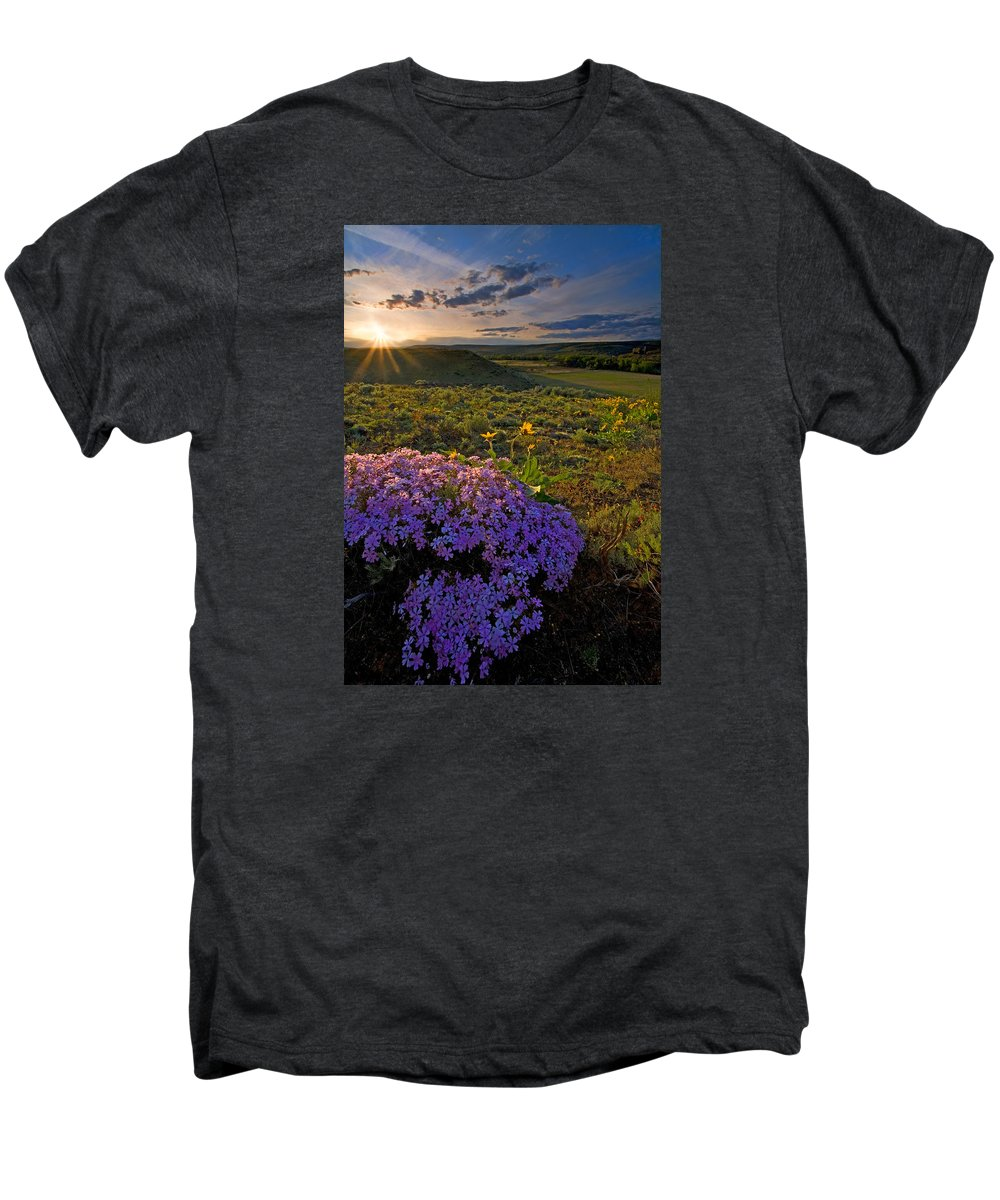 Wildflowers Men's Premium T-Shirt featuring the photograph Last Light Of Spring by Mike Dawson
