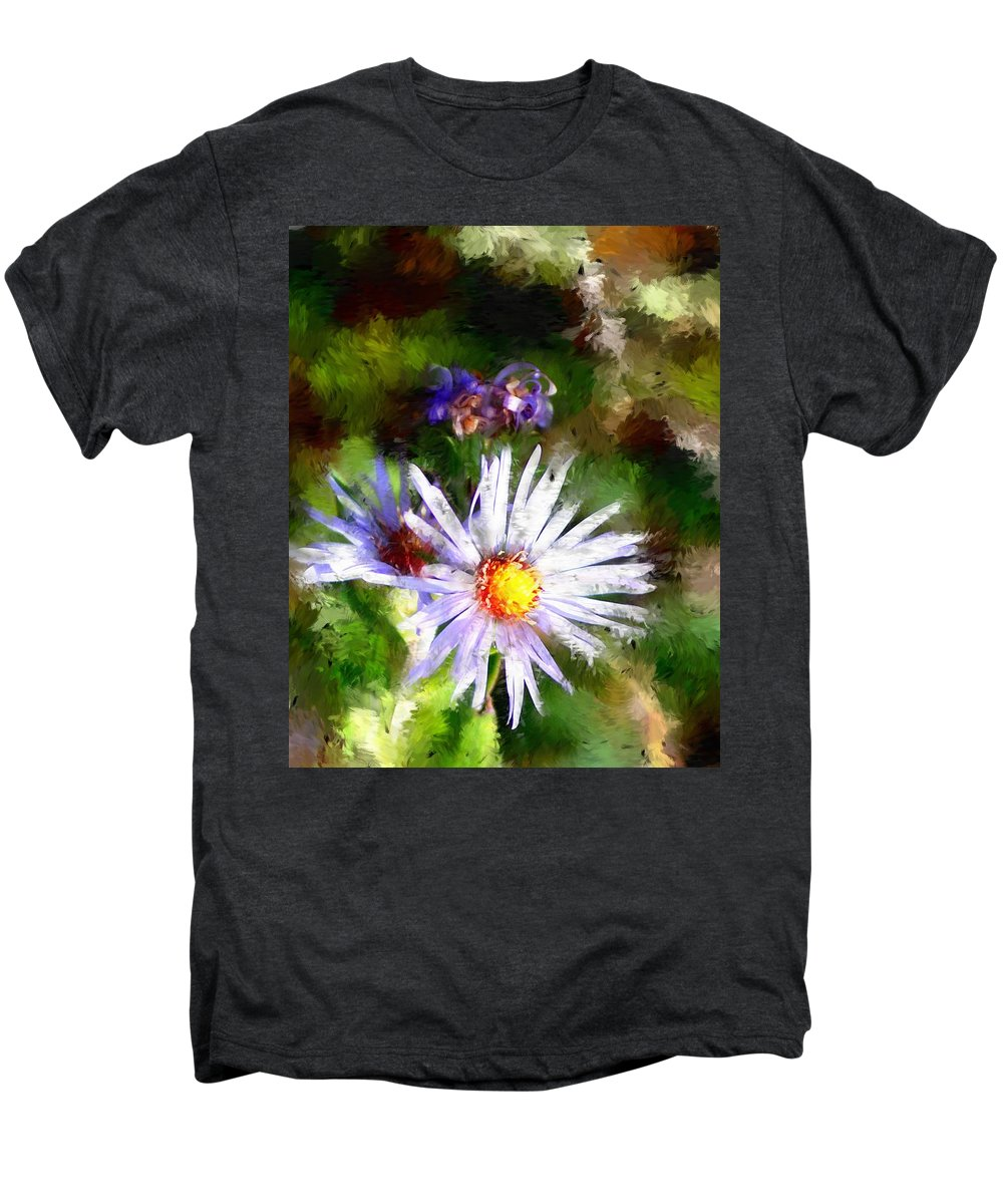 Flower Men's Premium T-Shirt featuring the photograph Last Rose Of Summer by David Lane