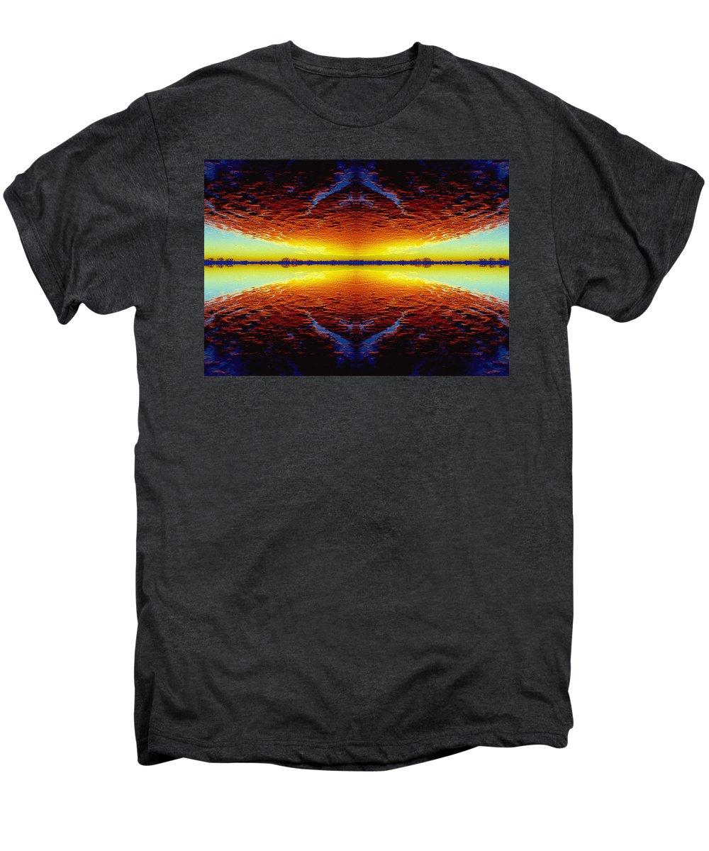 Sunset Men's Premium T-Shirt featuring the photograph Last Sunset by Nancy Mueller