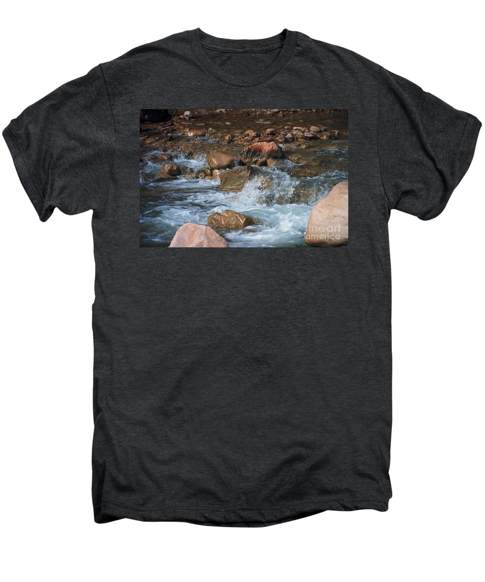 Creek Men's Premium T-Shirt featuring the photograph Laughing Water by Kathy McClure