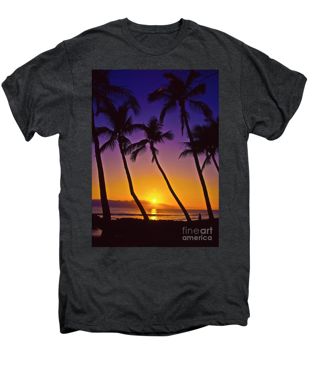 Sunset Men's Premium T-Shirt featuring the photograph Launiupoko Sunset by Jim Cazel
