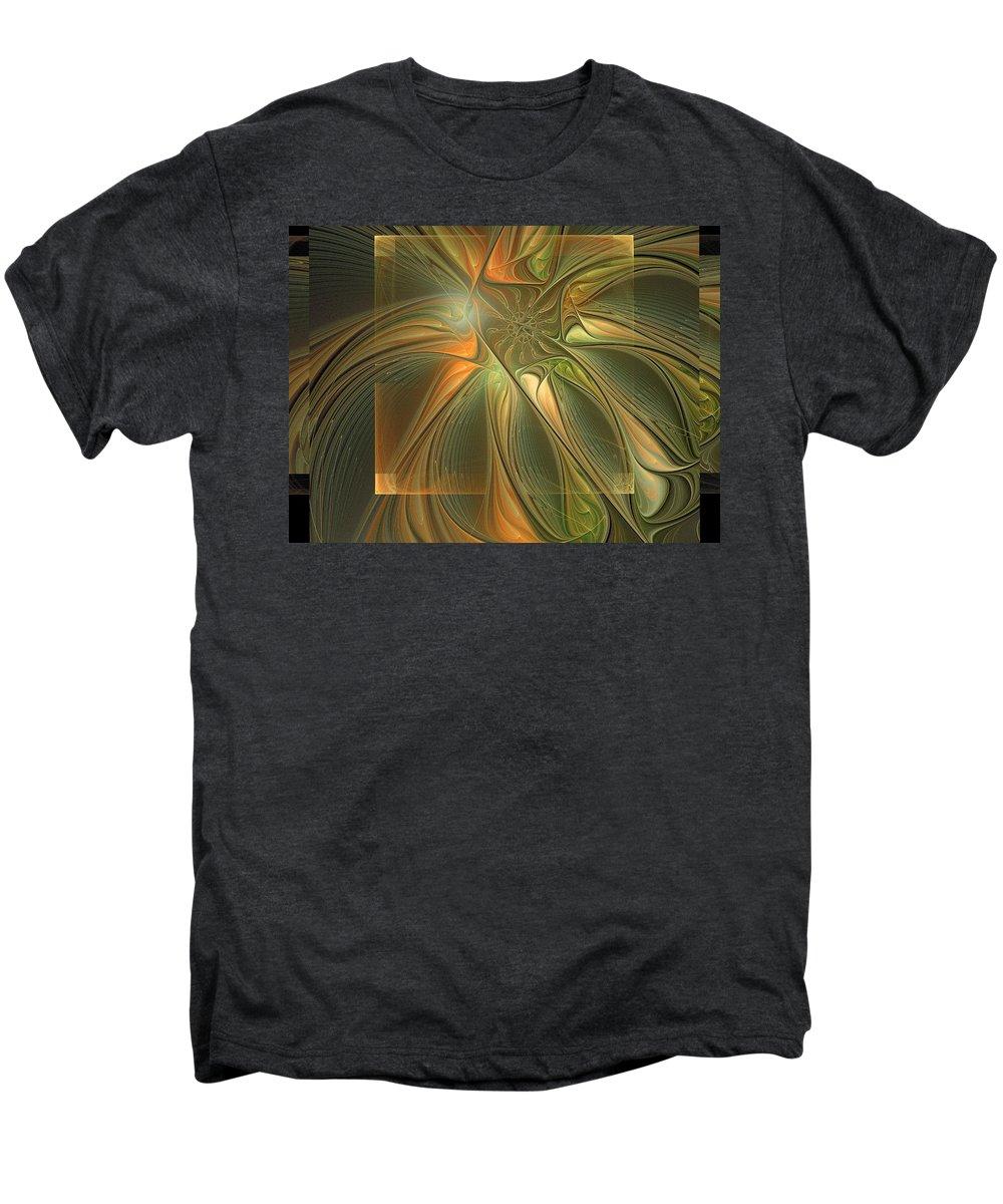Digital Art Men's Premium T-Shirt featuring the digital art Layers by Amanda Moore