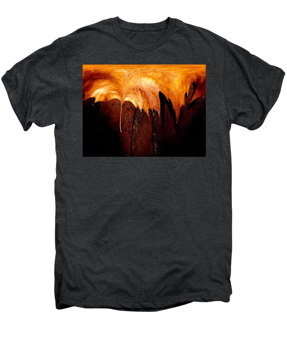 Leaf Men's Premium T-Shirt featuring the photograph Leaf On Bricks 2 by Tim Allen