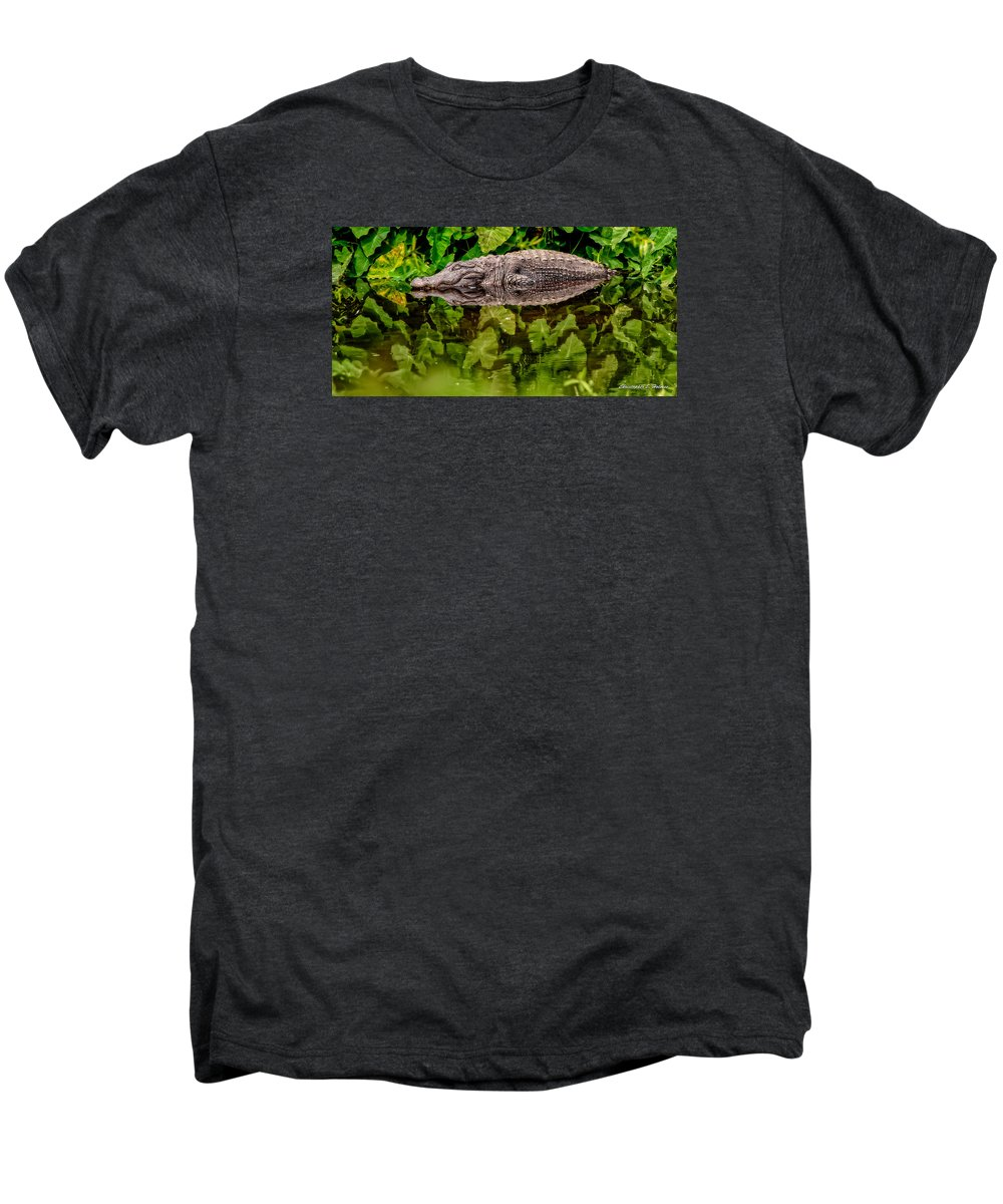 Alligator Men's Premium T-Shirt featuring the photograph Let Sleeping Gators Lie by Christopher Holmes