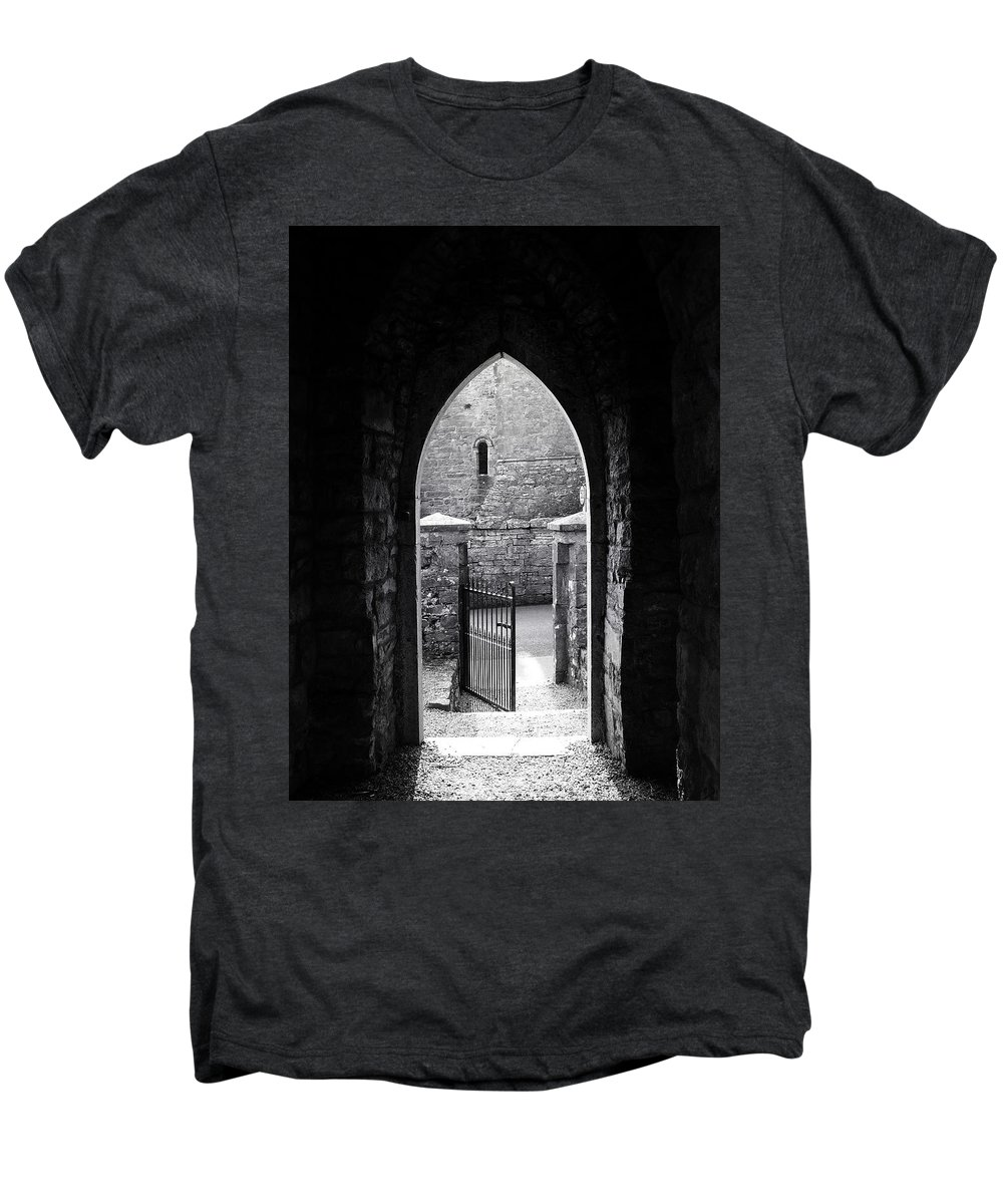 Irish Men's Premium T-Shirt featuring the photograph Let There Be Light Cong Church And Abbey Cong Ireland by Teresa Mucha