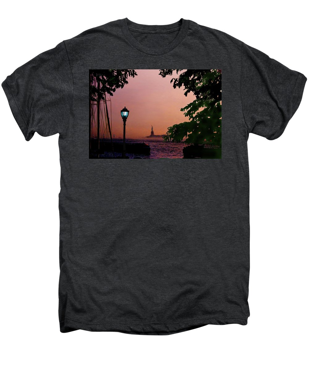 Seascape Men's Premium T-Shirt featuring the digital art Liberty Fading Seascape by Steve Karol