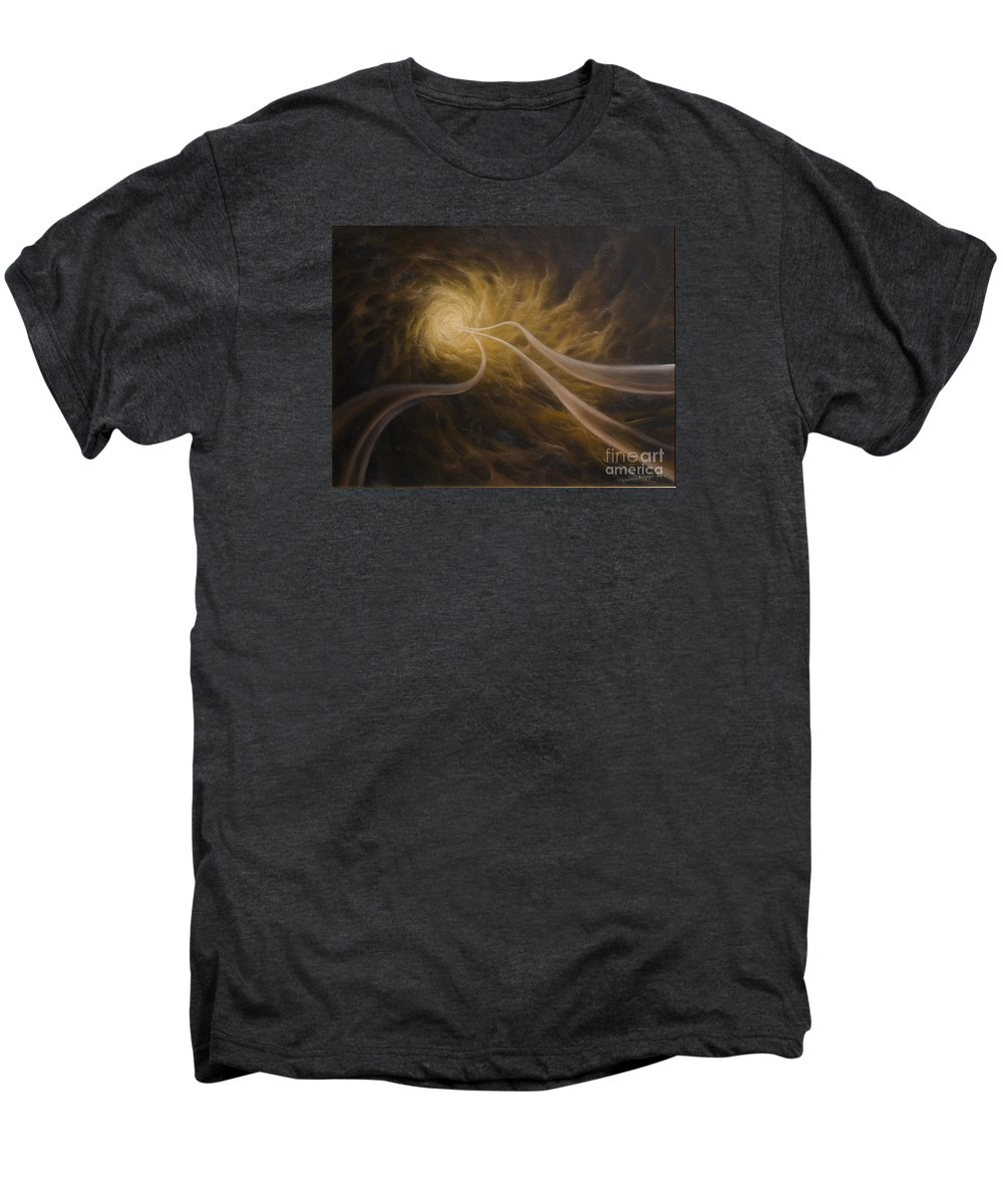 Abstract Men's Premium T-Shirt featuring the painting Life After Death by Arthur Braginsky