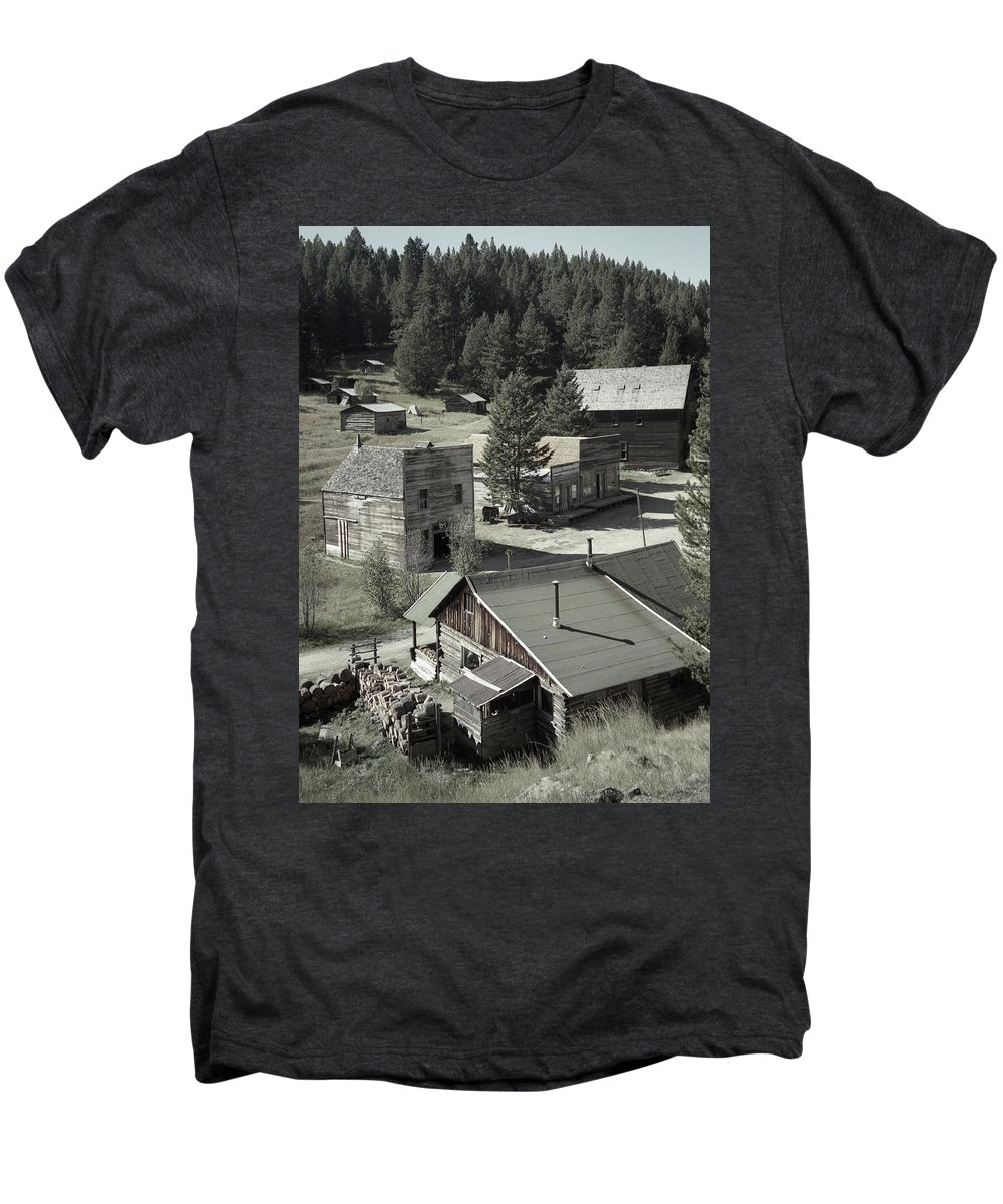 Ghost Towns Men's Premium T-Shirt featuring the photograph Life In A Ghost Town by Richard Rizzo