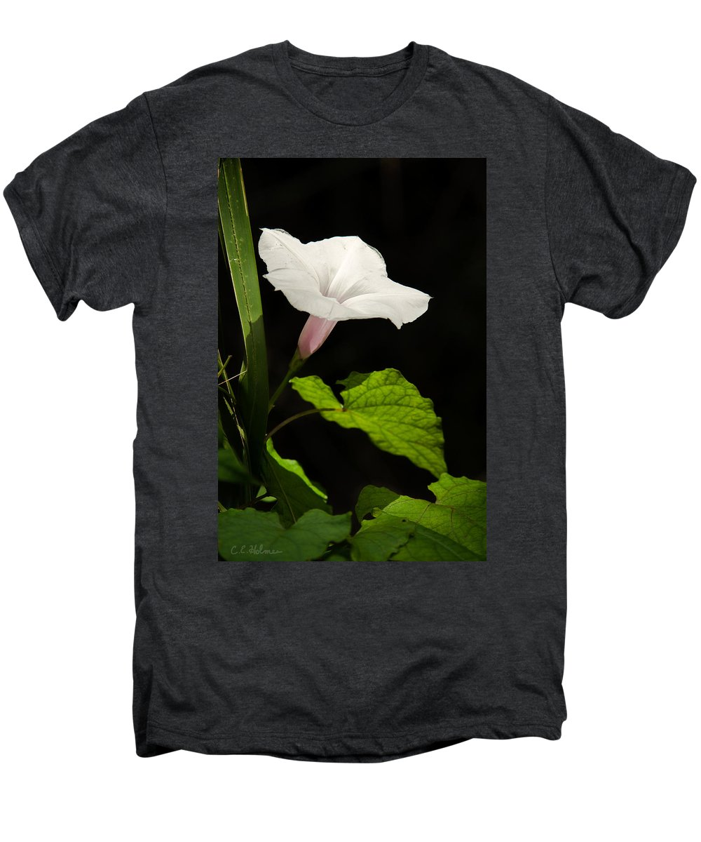 Flower Men's Premium T-Shirt featuring the photograph Light Out Of The Dark by Christopher Holmes