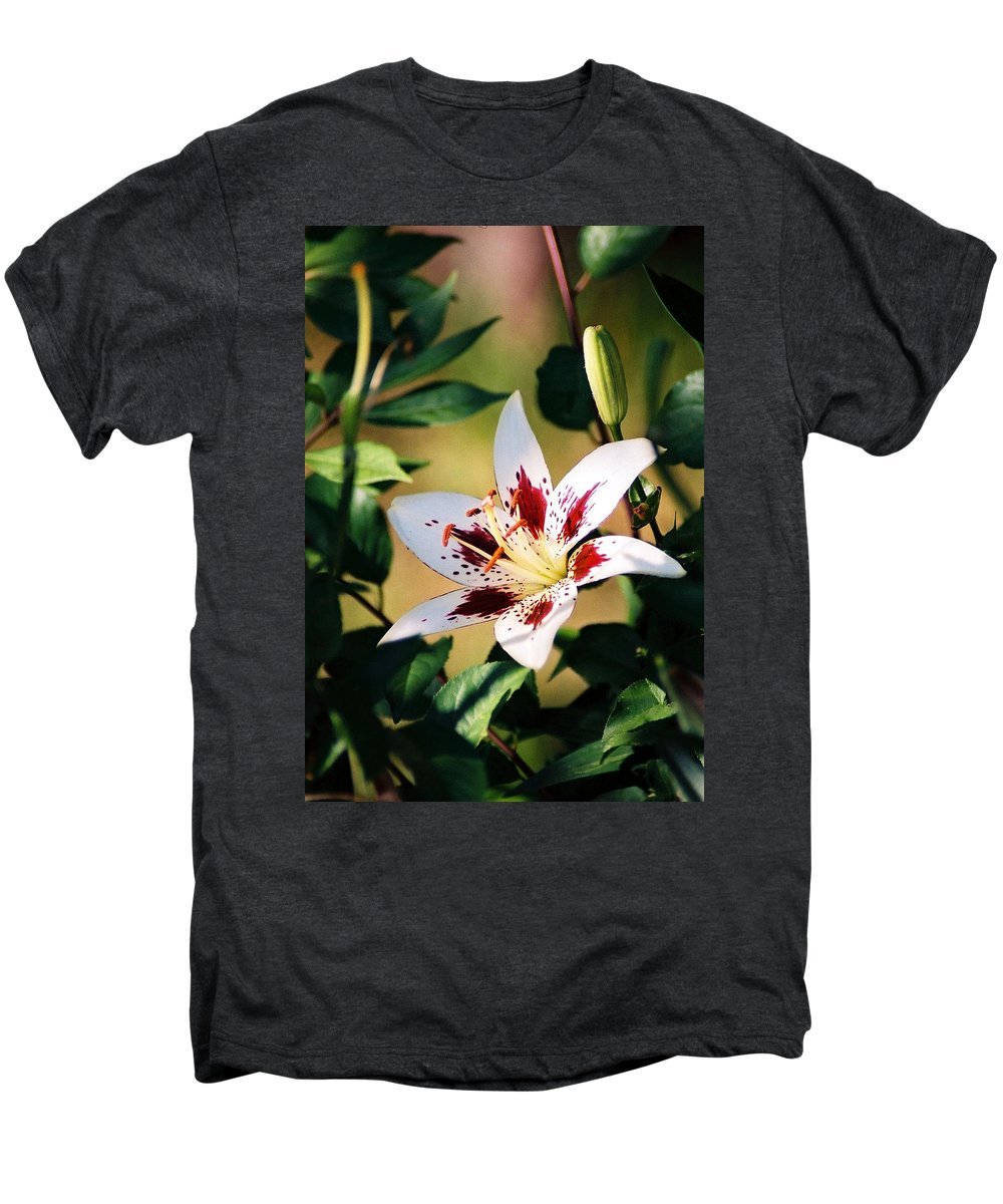Flower Men's Premium T-Shirt featuring the photograph Lily by Steve Karol