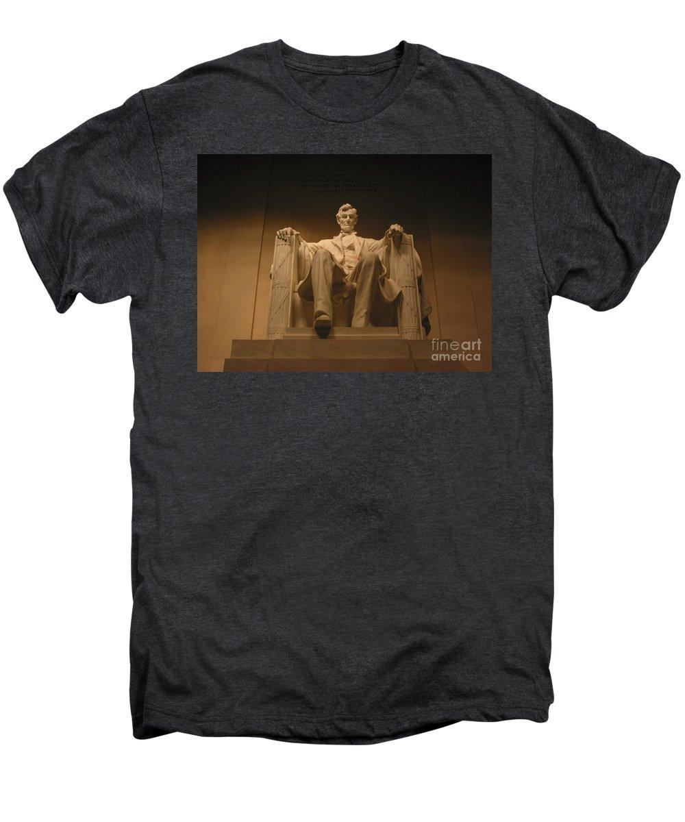 Abraham Lincoln Men's Premium T-Shirt featuring the photograph Lincoln Memorial by Brian McDunn
