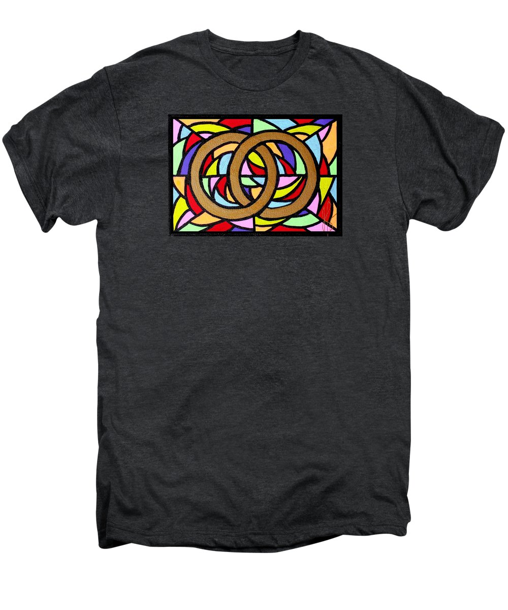 Wedding Men's Premium T-Shirt featuring the painting Linked by Jim Harris