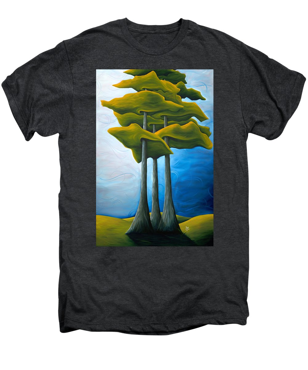 Landscape Men's Premium T-Shirt featuring the painting Living In The Shadow by Richard Hoedl