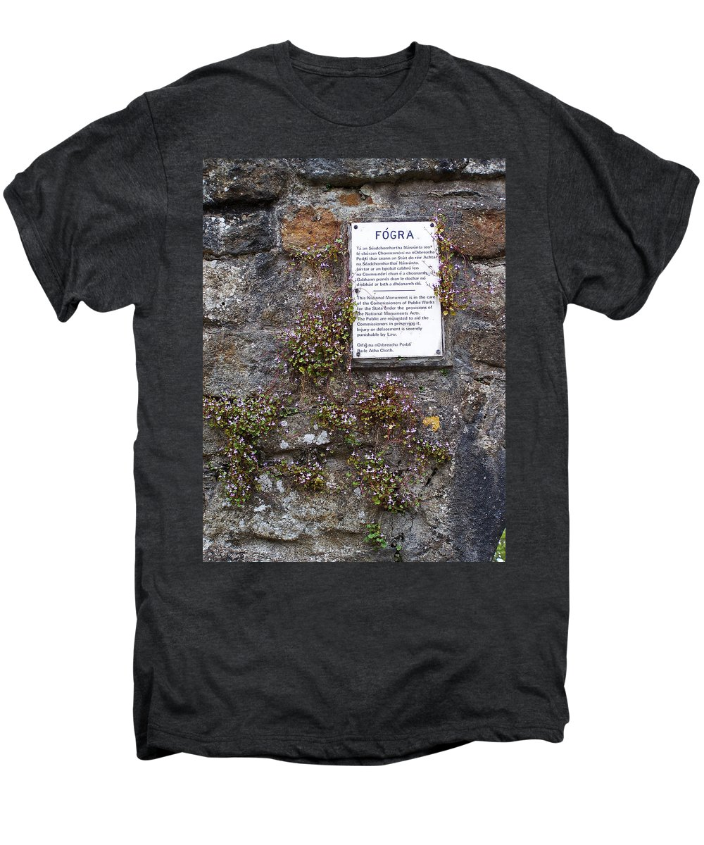 Irish Men's Premium T-Shirt featuring the photograph Living Wall At Donegal Castle Ireland by Teresa Mucha