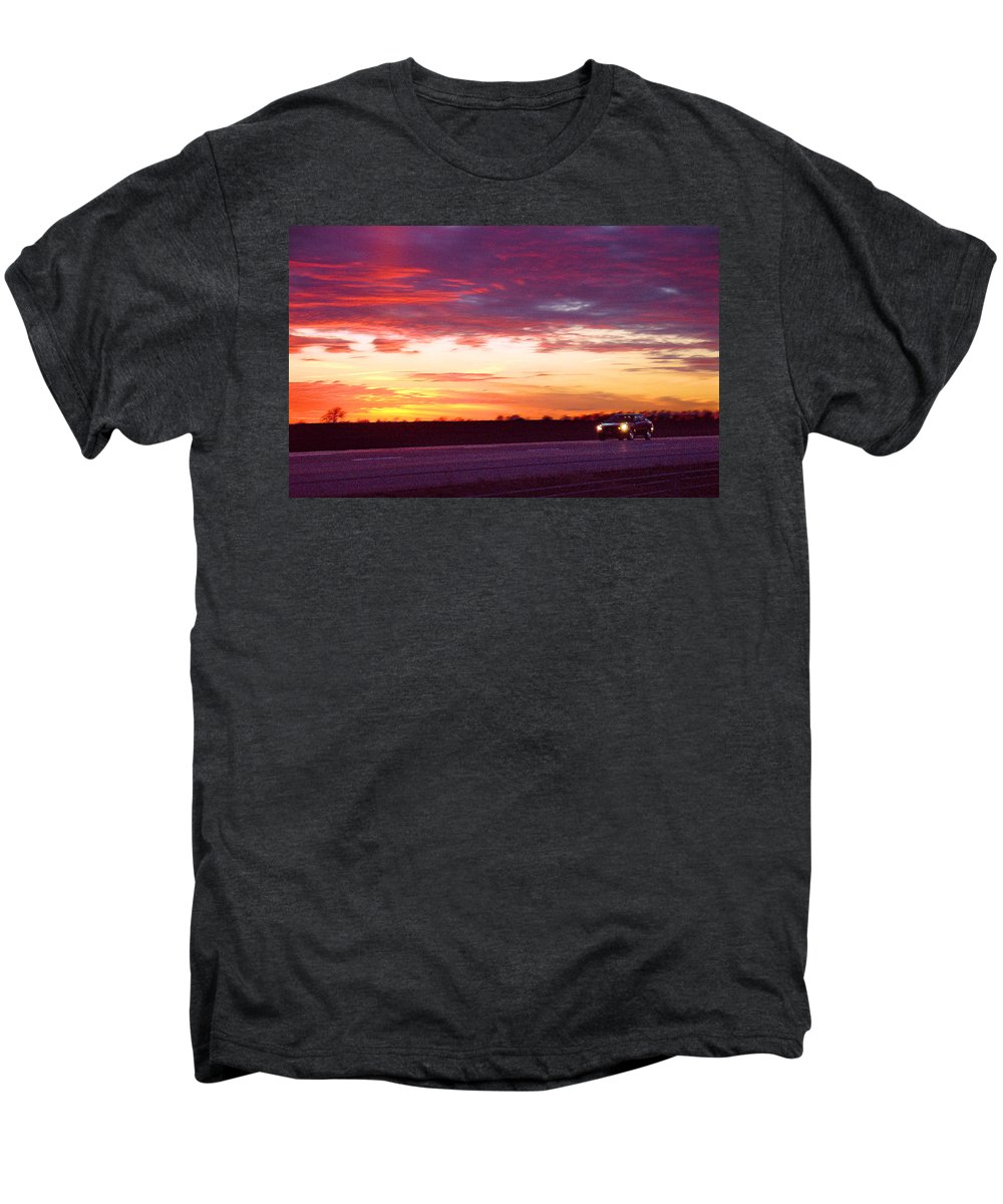Landscape Men's Premium T-Shirt featuring the photograph Lonesome Highway by Steve Karol