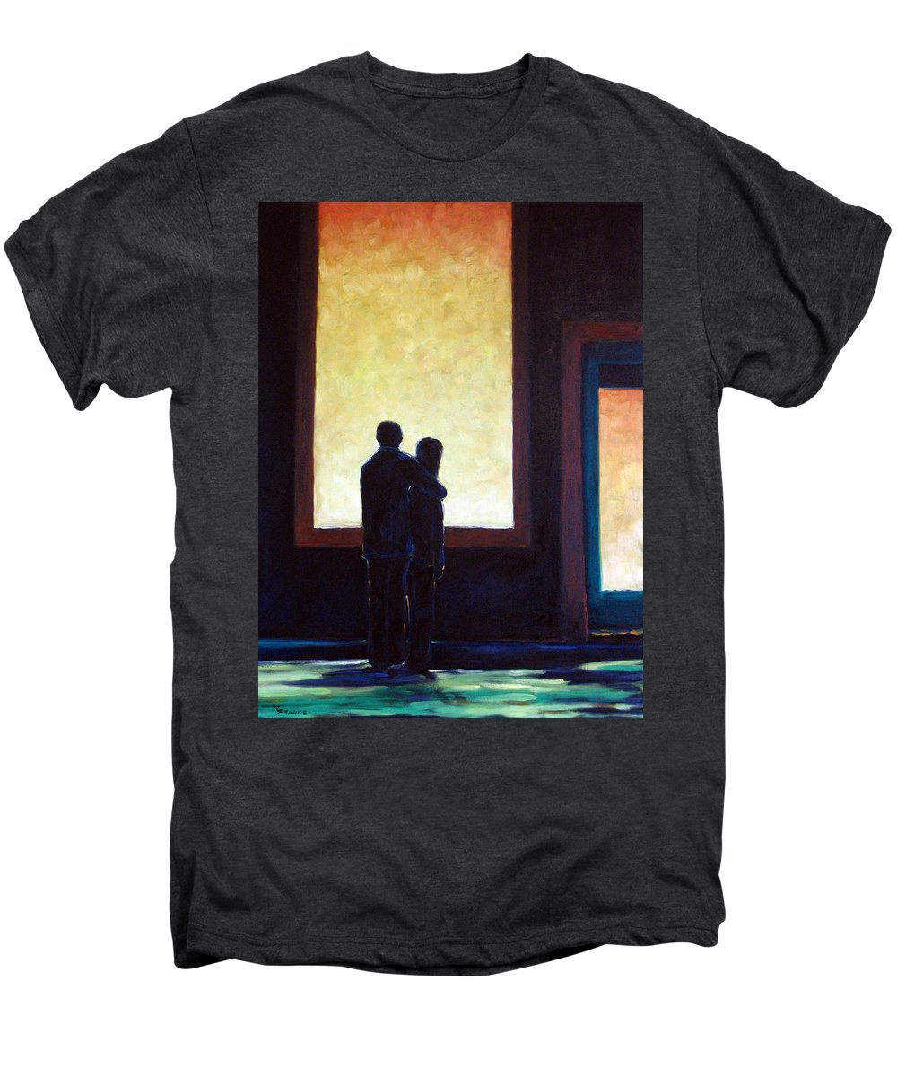 Pranke Men's Premium T-Shirt featuring the painting Looking In Looking Out by Richard T Pranke