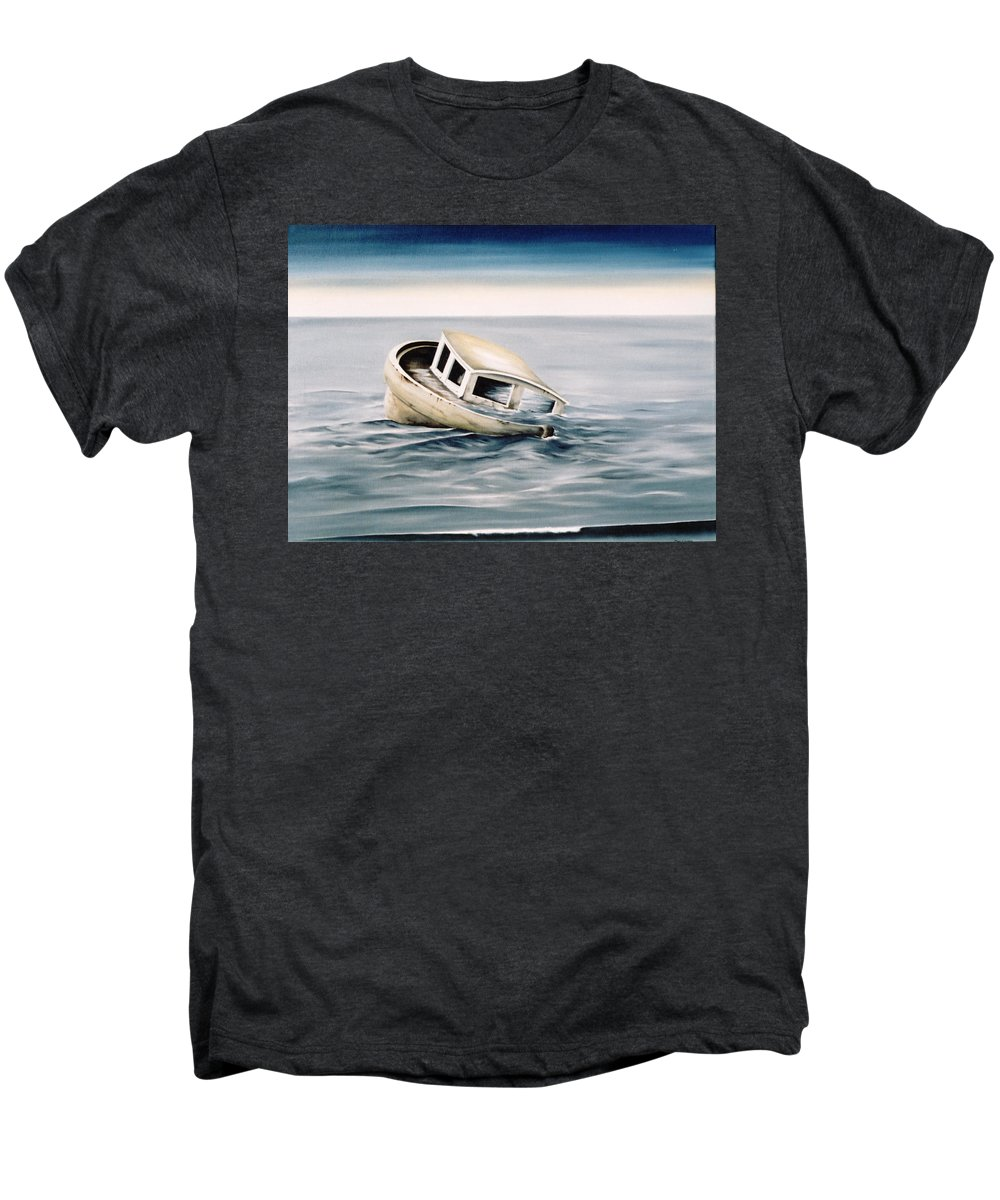 Seascape Men's Premium T-Shirt featuring the painting Lost At Sea Contd by Mark Cawood