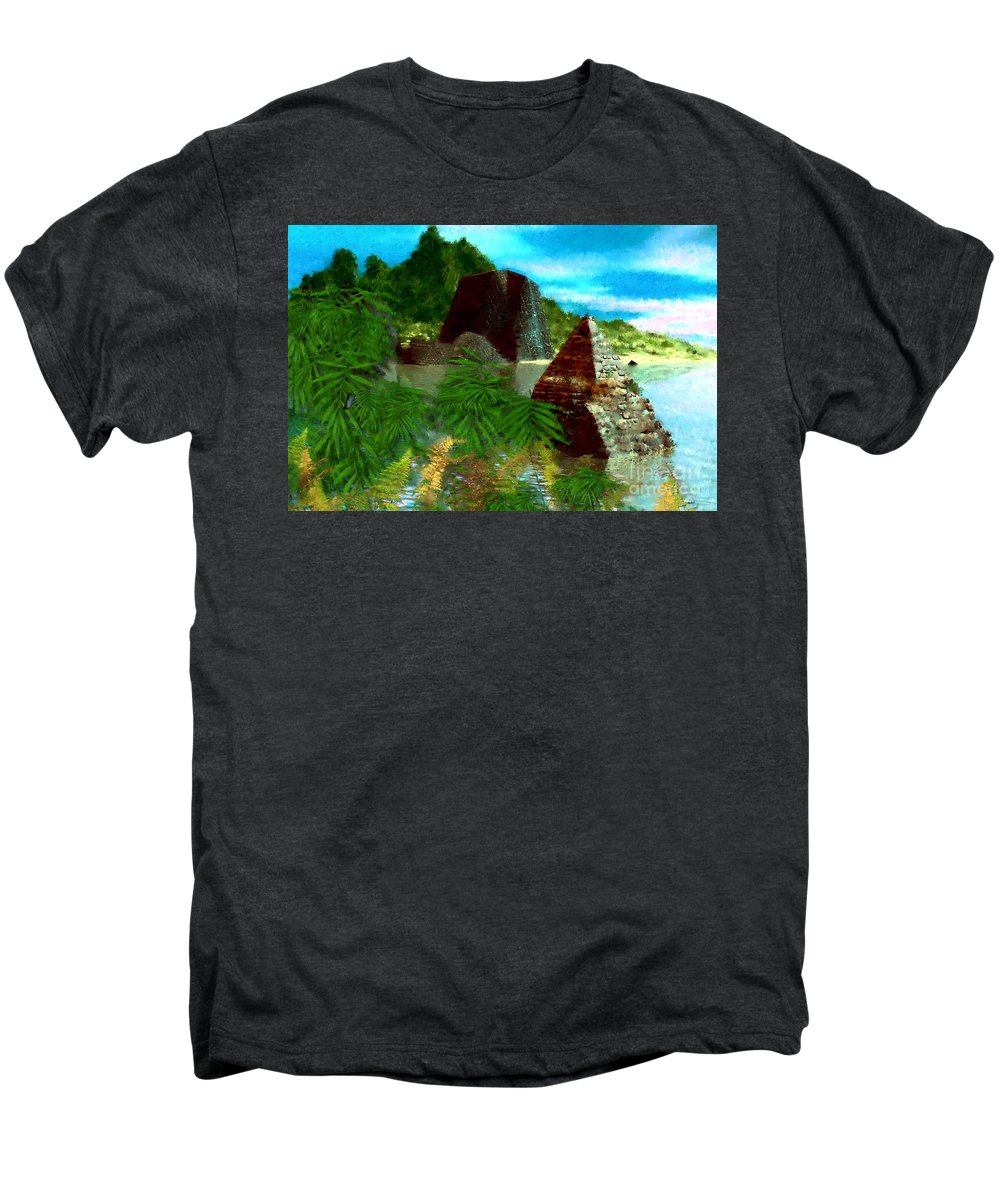 Digital Fantasy Painting Men's Premium T-Shirt featuring the digital art Lost City by David Lane